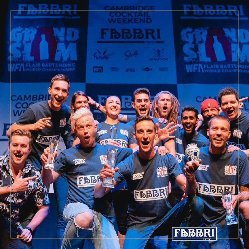 FABBRI 1905 sponsor ufficiale del WFA Grand Slam al Cambridge Cocktail Weekend 2018: quando l'arte del cocktail si fa spettacolo