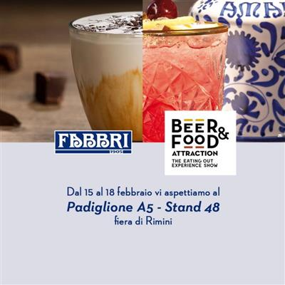 Al Beer&Food Attraction si brinda con Fabbri!